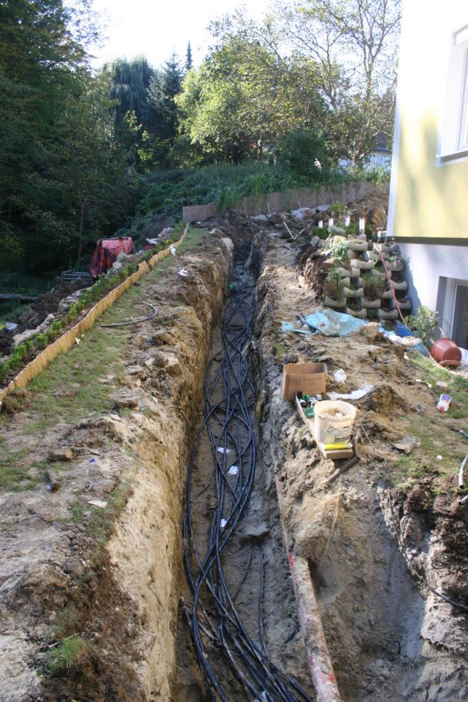 Erdwärmeanlage Installation 2011